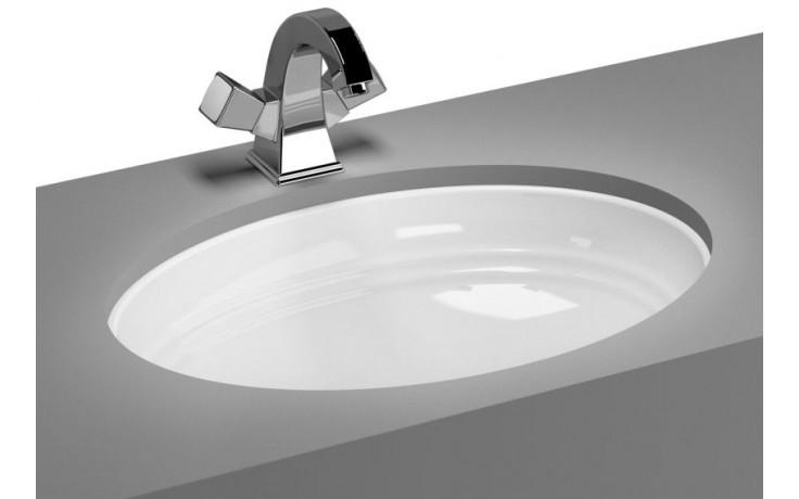 Umyvadlo zápustné Vitra bez otvoru Aria, zdola, s přepadem 54 cm bílá