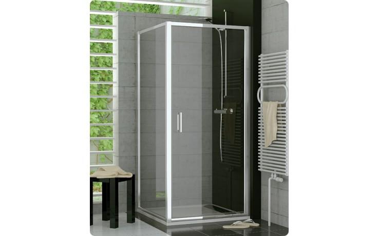 Zástěna sprchová boční Ronal TOP-Line TOPF 0750 04 44 750x1900mm bílá/cristal perly AQ