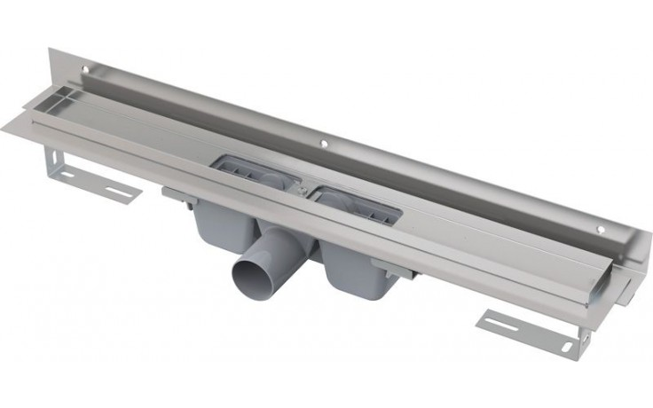 CONCEPT liniový podlahový žlab 950mm, s okrajem pro perforovaný rošt, s nastavitelným límcem ke stěně, nerez