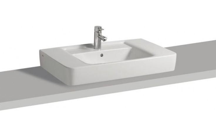 Umyvadlo nábytkové Keramag s otvorem Renova Nr.1 Plan na desku s přepadem 85x48cm bílá Alpin
