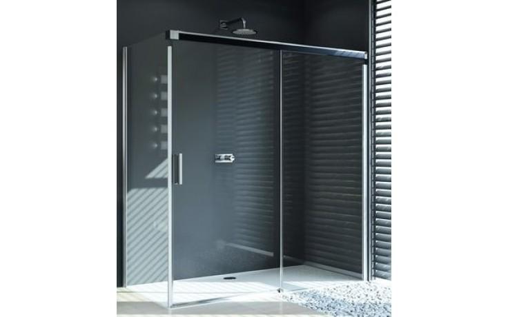 Zástěna sprchová dveře Huppe sklo Design pure 1200x1900 mm stříbrná matná/čiré AP