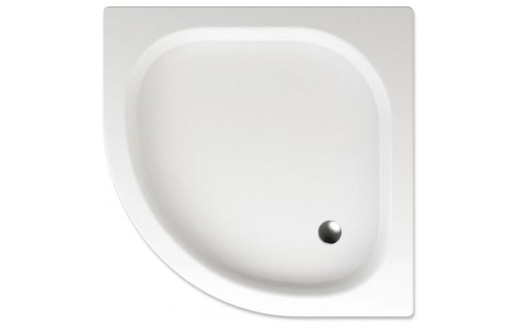 TEIKO GOMERA sprchová vanička 80x80x8cm, R50cm, čtvrtkruh, akrylát, bílá