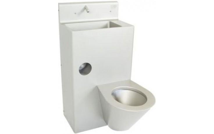AZP BRNO BSK 02.KL kombi set umyvadlo a klozet 510x1000mm, WC vlevo, kolmé provedení, nerez