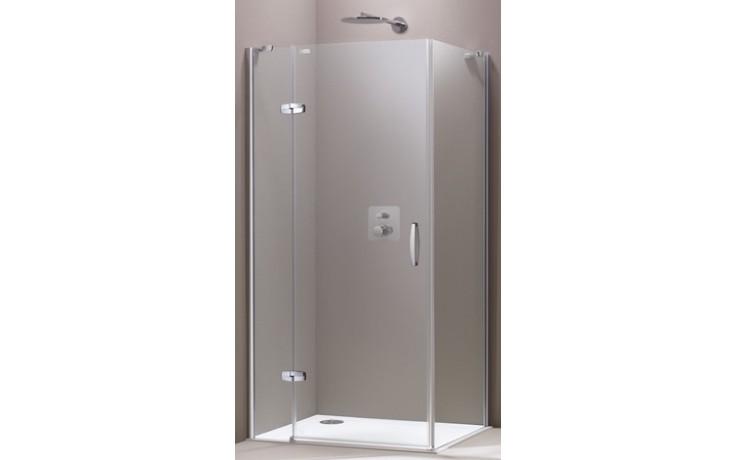 HÜPPE AURA ELEGANCE SW 800 boční stěna 800x1900mm, 4-úhelník, stříbrná matná/sklo Sand Plus Anti-Plaque