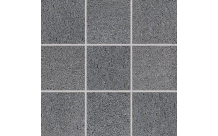 RAKO UNISTONE mozaika 10x10cm, lepená na síťce, šedá