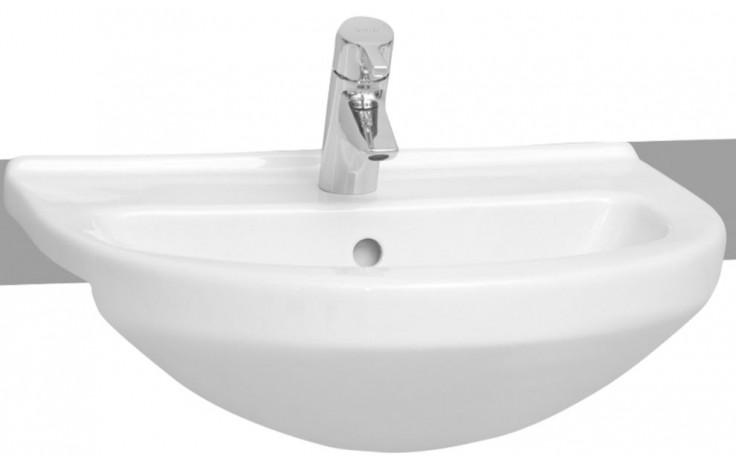 Umyvadlo polozápustné Vitra s otvorem S50 55 cm bílá