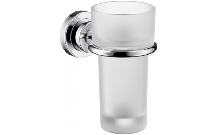 Doplněk držák se skleničkou Hansgrohe Axor Citterio 11,9x13,5 cm chrom/sklo