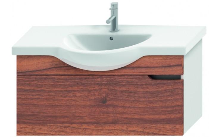 JIKA MIO umyvadlová skříňka pro nábytkové umyvadlo 1000x340mm 1 zásuvka, bílá/ořech