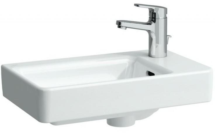 LAUFEN PRO S umývátko asymetrické 480x280mm bez otvoru, pravé, bílá LCC