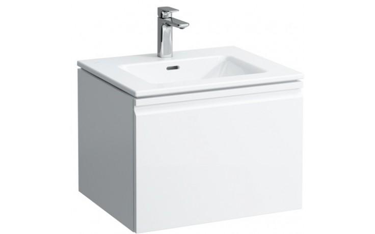 LAUFEN PRO S umyvadlo se skříňkou pod umyvadlo 600x500mm se zásuvkou, se sifonem, bílá mat