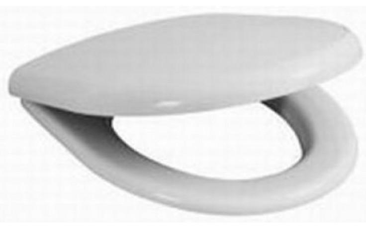 JIKA ZETA klozetové sedátko 370x400-440mm, s poklopem, duroplastové, SLOWCLOSE, s plastovými úchyty, bílá