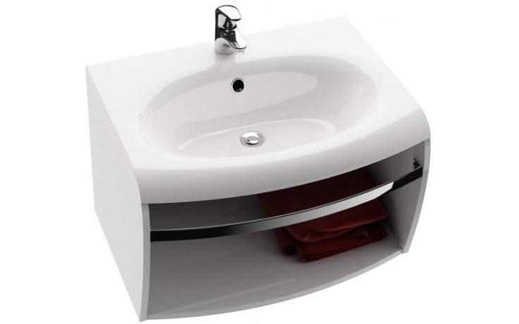 Nábytek skříňka pod umyvadlo Ravak SD Evolution s hrazdou 70x55cm bílá/bílá