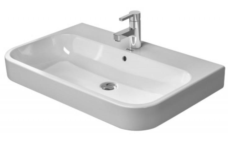 Umyvadlo nábytkové Duravit s otvorem Happy D.2 se 3 otvory 65x50,5 cm bílá