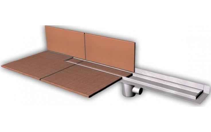 AZP BRNO PZ 014.800 podlahový žlab 800mm, pro vložení kachliček, nerez ocel