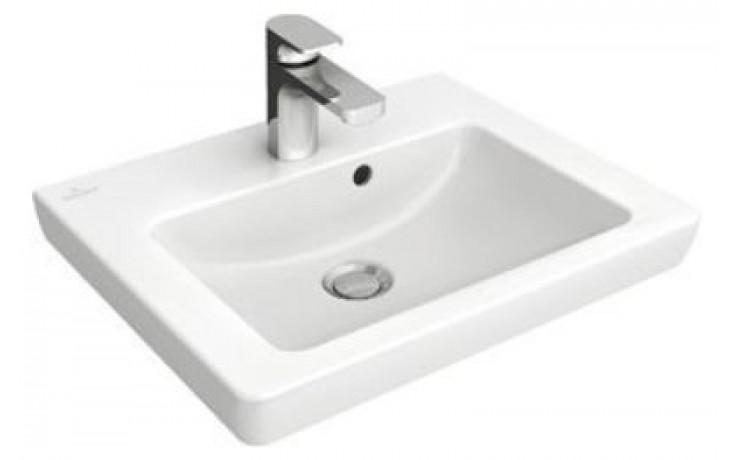 VILLEROY & BOCH SUBWAY 2.0 umývátko 500x400mm s přepadem, Bílá Alpin CeramicPlus