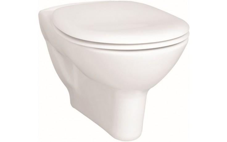 CONCEPT 100 závěsné WC 355x540mm vodorovný odpad, mělké splachování, bílá alpin 5284L003-1125