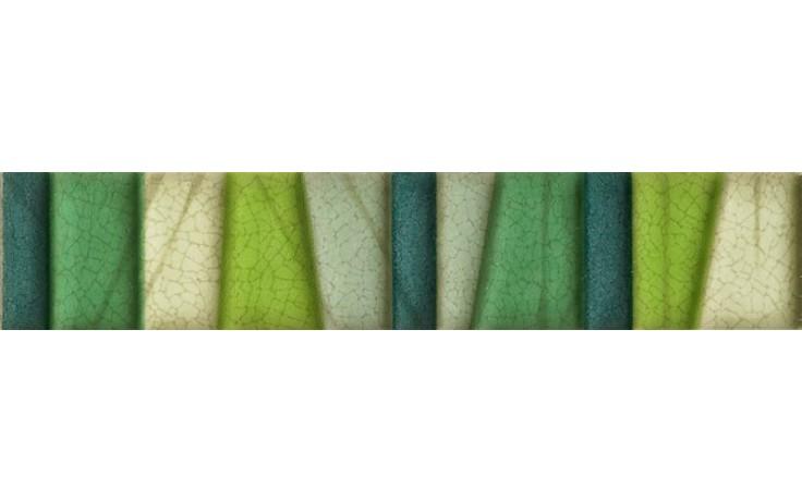 IMOLA PRISMA listela 4x20cm green, L.TRAPEZI V