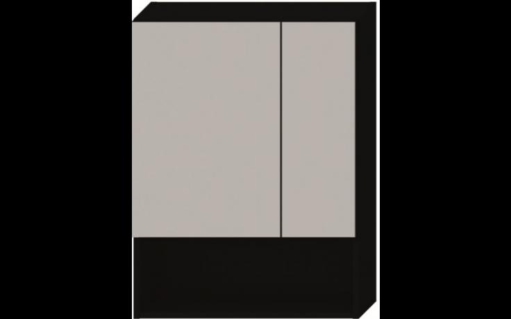JIKA LYRA zrcadlová skříňka 600x132x800mm, tmavý dub 4.5324.1.038.302.1