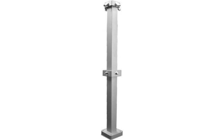 """AZP BRNO SPS 01.2 sprchový sloup G1/2"""", se 2 sprchovými hlavicemi, ovládání tlačným ventilem, nerez"""