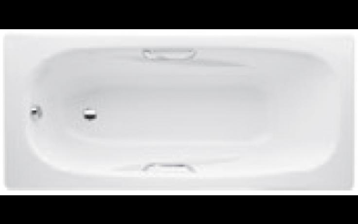 JIKA ALMA vana klasická 1600x750x390mm ocelová, včetně madel, Antislip, bílá