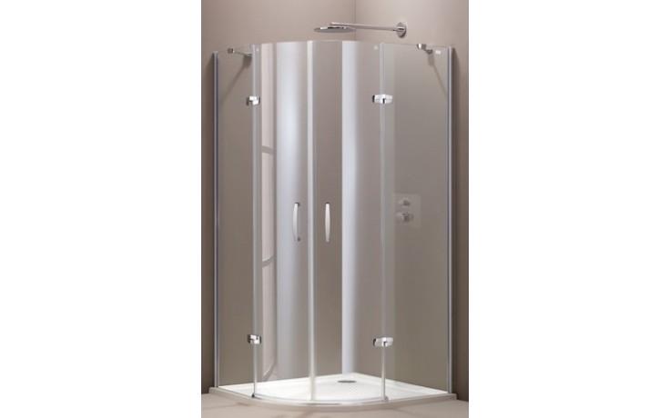 Zástěna sprchová čtvrtkruh Huppe sklo Aura elegance Akce 900x900x1900 mm stříbrná matná/Intima AP