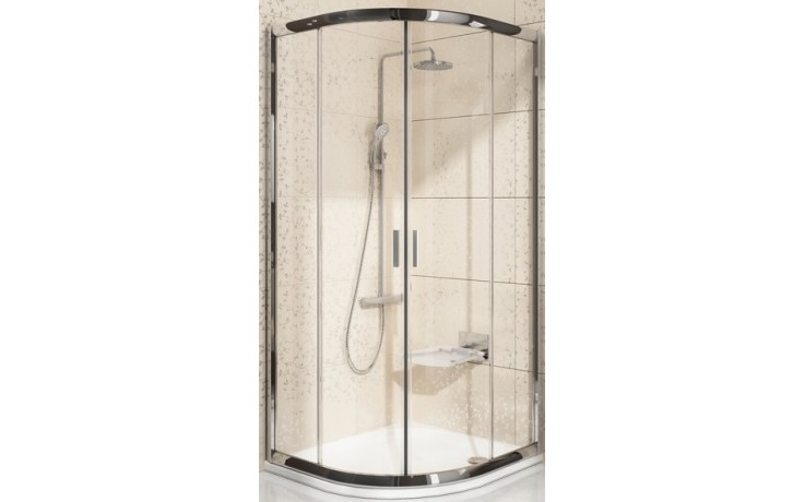 Zástěna sprchová čtvrtkruh Ravak sklo BLIX BLCP4-90 900x1900mm bright alu/grape