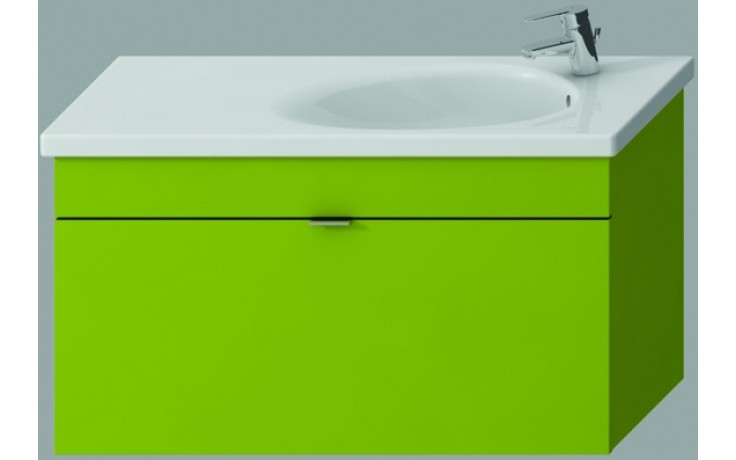 JIKA TIGO skříňka s umyvadlem 970x370x520mm s 1 zásuvkou, zelená 4.5518.5.021.156.1