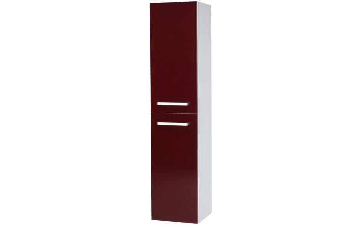 DŘEVOJAS Q MAX SVZ 35 S skříňka vysoká 35x154,5x35,3xcm, závěsná, lak, bílá/červená vysoký lesk