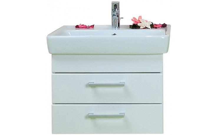 CONCEPT 200 skříňka pod umyvadlo 54,5x39,2x43,4cm závěsná se 2 zásuvkami, bílá/bílá