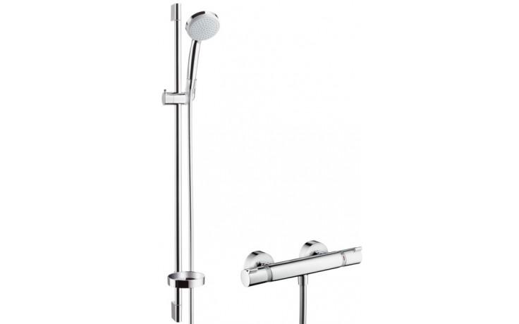 Baterie sprchová Hansgrohe nástěnná termostatická Croma 100 Vario/Ecostat Comfort se sprchovým setem 150mm, l=900mm chrom