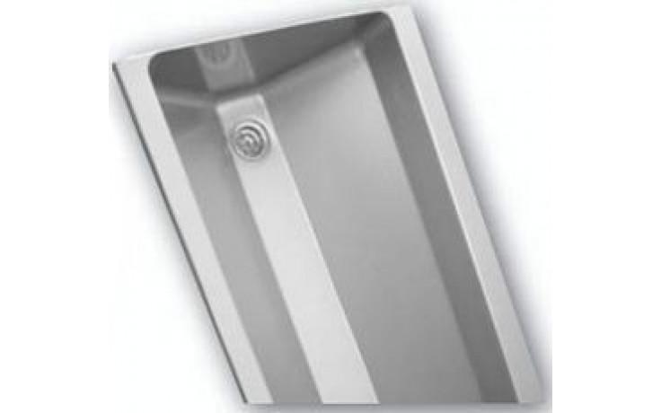 AZP BRNO AUL 05.1 umývací žlab 1250x400mm, s kulatými vnitřními rohy, závěsný, nerez ocel