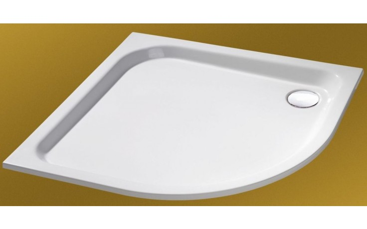 Vanička litý mramor Huppe čtvrtkruh Verano 90x90 cm bílá
