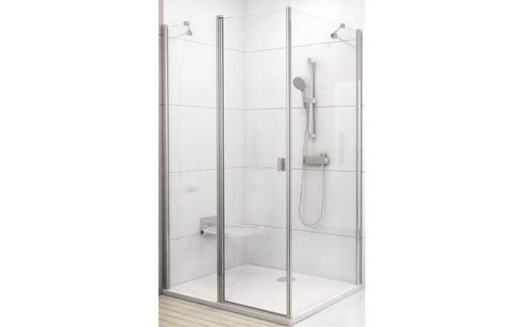 Zástěna sprchová boční Ravak sklo Chrome CPS-80 800x1950mm bílá/transparent