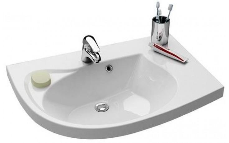 RAVAK ROSA COMFORT nábytkové umyvadlo 780x550x160mm levé, s otvorem a přepadem, bílá/litý mramor