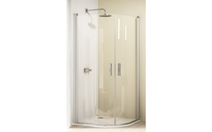 HÜPPE DESIGN 501 ELEGANCE křídlové dveře 1000x1900mm stříbrná lesklá/čirá anti-plaque