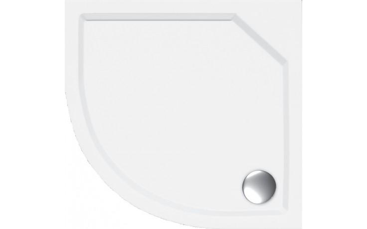 CONCEPT 100 VERANO sprchová vanička 800x800mm, čtvrtkruh, včetně nožiček, litý mramor, bílá