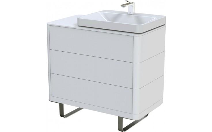 TOTO SG skříňka pod umyvadlo 890x500mm 3 zásuvky, teak furnier, FU10723L-VT