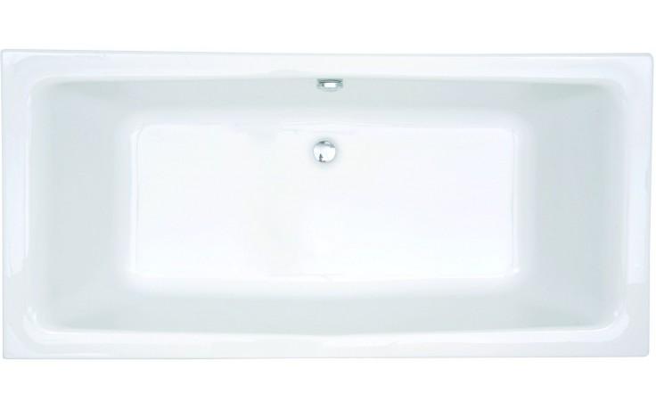 Vana plastová - klasická CONCEPT New se středovým odtokem 170x75 cm bílá