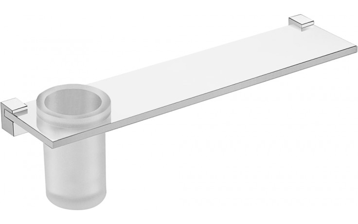 Doplněk polička Jika Cubito Design vč. skleničky 40 cm chrom