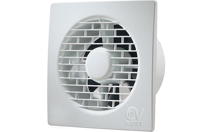 """VORTICE PUNTO FILO MF 100/4""""T ventilátor odsávací axiální, s ultratenkou mřížkou, s doběhem, bílá"""
