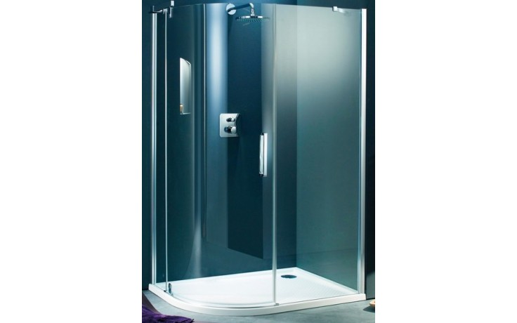 Zástěna sprchová čtvrtkruh Huppe sklo Refresh pure 900x900x1943 mm bílá/čiré