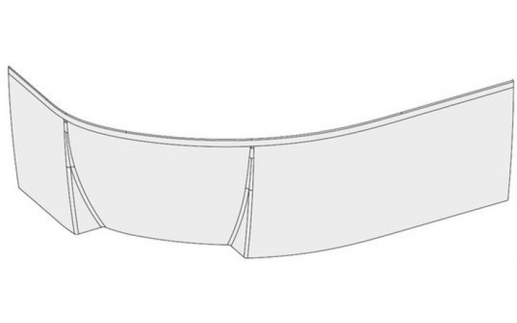 RAVAK ROSA II P panel 1600x565mm pravý, bílá