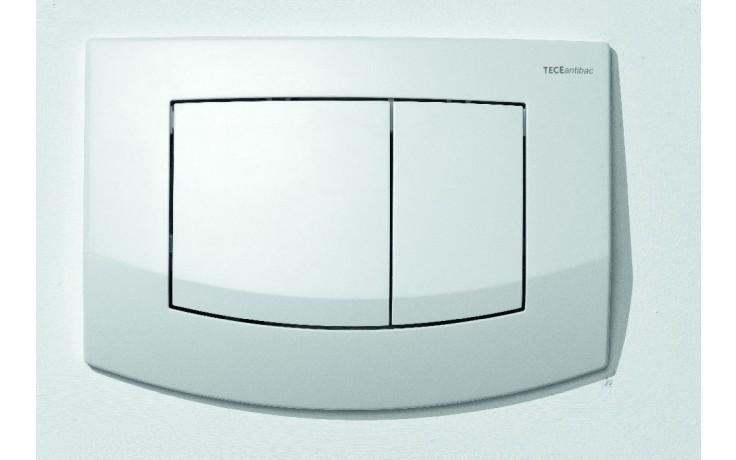 Předstěnové systémy ovládací desky TECE TECEambia dvojčinné  bílé/antibakteriální