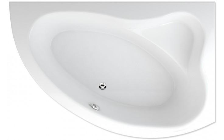 TEIKO CEJLON P vana 150x100x38,5cm, rohová, pravá, akrylát, bílá