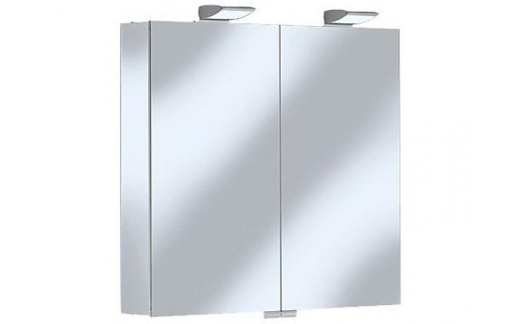 Nábytek zrcadlová skříňka Keuco Royal 35 13502171301 80x70x15cm silber-elox/bílá-mat