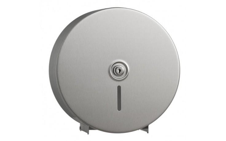 Doplněk zásobník na WC papír - Bobrick Jumbo se zámkem 115x270x271 mm/1 role pr.20-24 cm matný nerez