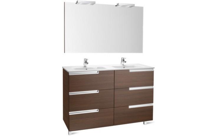 ROCA PACK VICTORIA-N FAMILY nábytková sestava 1190x460x740mm skříňka s umyvadlem a zrcadlem s osvětlením wenge 7855845154