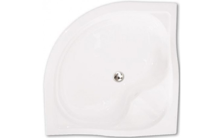 ROLTECHNIK SEMIDEEP NEO polohluboká sprchová vanička 800x800x290mm R550 akrylátová, čtvrtkruhová, bílá