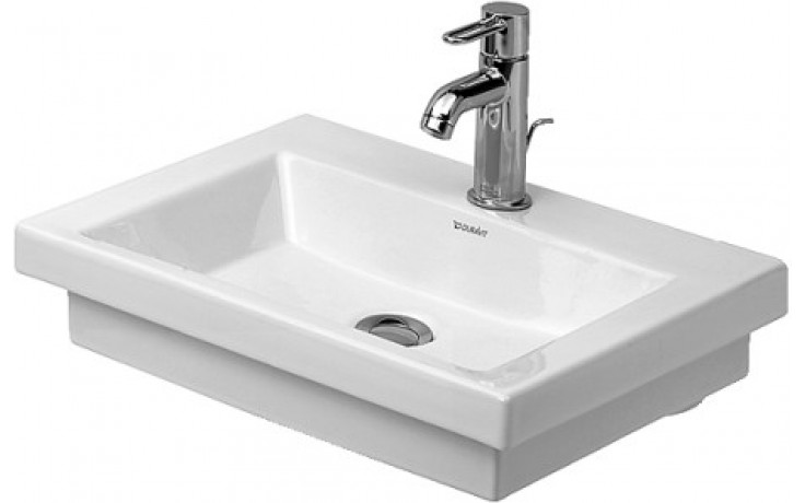 DURAVIT 2ND FLOOR umývátko 500x400mm bez přetoku, bílá/wonder gliss 07905000001