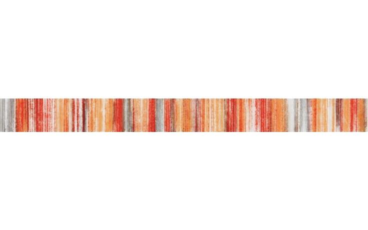 RAKO AIR listela 5,5x60cm červeno-oranžová WLASZ004